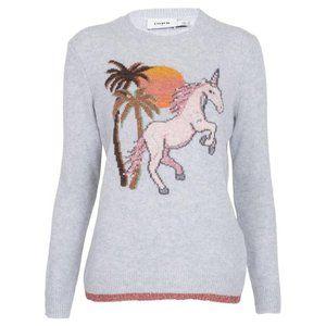 Coach Uni Intarsia Wool-Cashmere Sweater